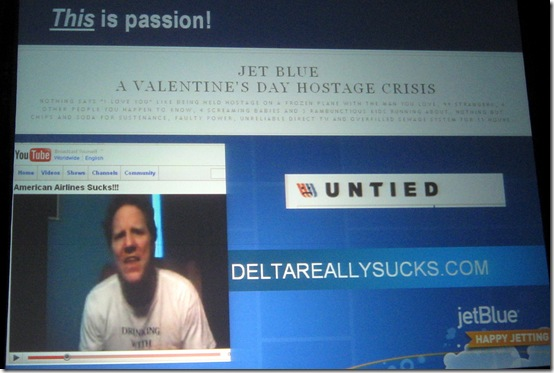 JetBlue Forrester Marketing Forum 2009 - Passion about how other airlines suck