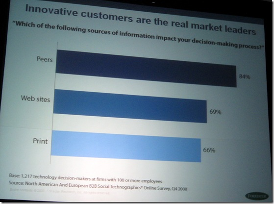 Peers impact decision making process over web and print - forrester marketin gofurm