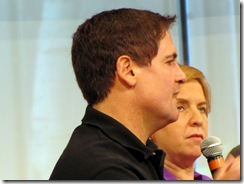 Mark Cuban and Vivian Schiller